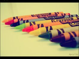 Crayons in Retro Mode by aprylle0497