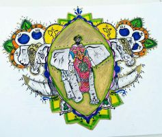 Indian art competition drawing by SalmaHSaleh