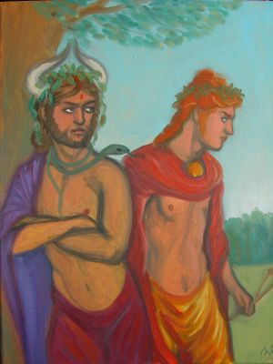 Oil Study: Apollo and Dionysus