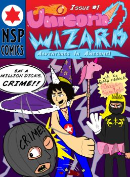 Unicorn Wizard!!! ISSUE ONE COVER! by LongSean22