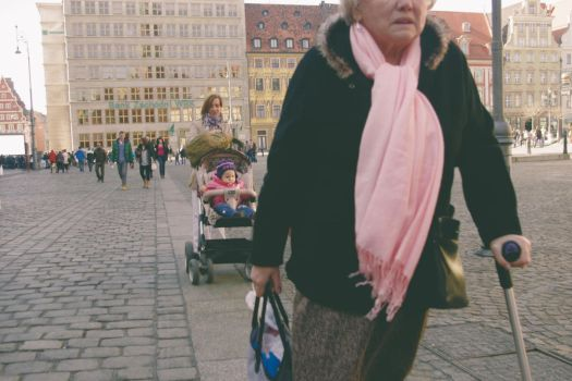 one with old lady up front and a child in the back by Maclunar
