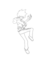 Tsuna Line Art by acemaster34