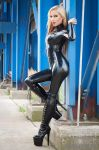 Black Latex Catsuit by suiluj