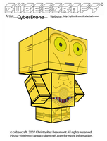 Cubeecraft - C-3PO by CyberDrone
