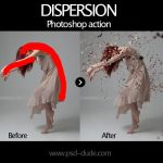 Dispersion Free Photoshop Action by PsdDude