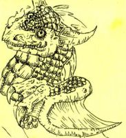 Post it dragon by Eltharion