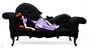 Black Chaise Longue SD size by Katja-dollab