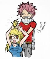 now is Lucy angry with Natsu.. by DatNes
