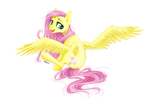 Fluttershy [comission] by Holka13