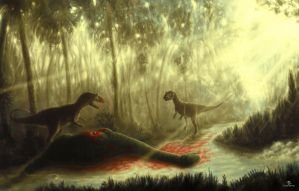 Jurassic Repast by ThornSpine