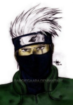 Kakashi Hatake Sketch Color by bargiegaara