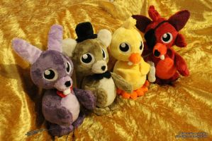 Five Nights at Freddys 3 inspired Plushies *edited by LiChiba
