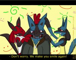 Let's make smile for you. by Fangy-From-Shadow