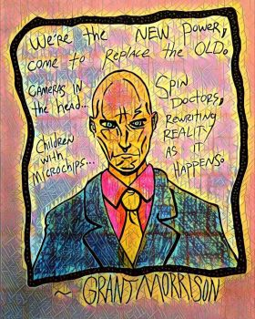 Grant Morrison by nylandewhouse
