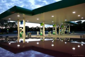 Gasstation at the A 50 by jochniew