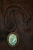 Earthy Jade Dragon Necklace by Tomaka
