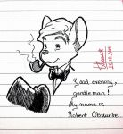 My OC character : Mr.Robert Obscurite by doraemonbasil