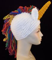 Crochet Beanie Unicorn by ImNuckingFuttsToni
