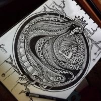 Queen of Zentangle III by erindwiazmi