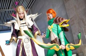 Invoker and Windrunner DoatA 2 cosplay wizard by UebaQQ