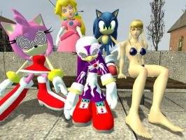 Sonic's Hypnotized Harem by VG-MC