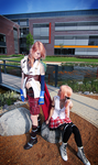 Serah and Lightning by Rukiii