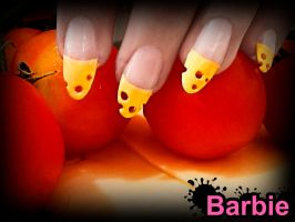 Swiss Cheese Nails by BarbieNailArt