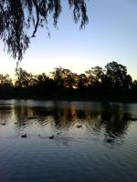 evening stoll by the river by obsidiantears83