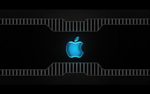 Wallpaper Apple in Carbon by KellCandido