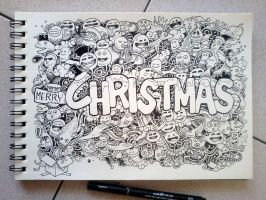 CHRISTMAS DOODLES by kerbyrosanes