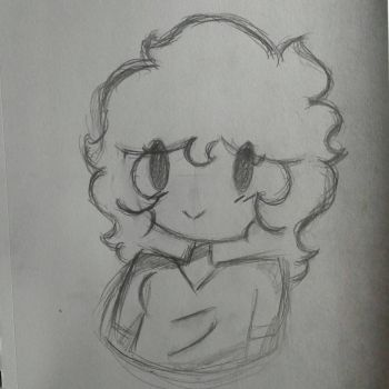 [DOODLE DUMP] Me as a girl by SpaceChildHere