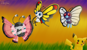 Pkmn - The Butterfly Gang by iTiffanyBlue