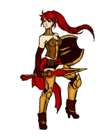 Rwby Pyrrha Nikos by Razenix-Angel