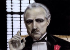 The Godfather by tanjadrawing