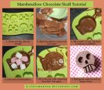 Marshmallow Chocolatete Skull Tutorial by claremanson
