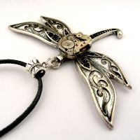 Steampunk Dragonfly Pendant (Steampunk inspired) by SteamSect