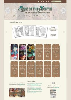 Ladies of the Months Site (Masks Page) 2016 by Angelic-Artisan
