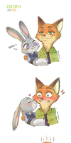 Fanart: Judy and Nick (Zootopia) by torakun14