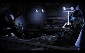 ME3 LDLC - Ellis Shepard, the Patient and Reapers by chicksaw2002