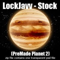 Planet Two PSD by LockJavv-Stock