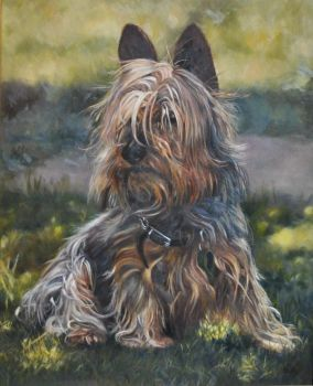 Mudley - Oil Painting by AstridBruning