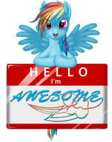 Hi I'm Awesome by Jewelscore