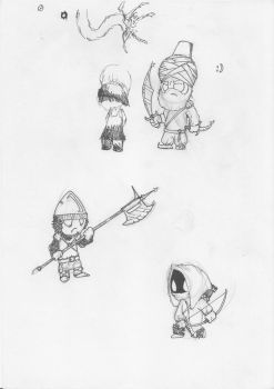 doodle soldiers by Gromulus