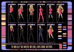 barbie star trek poster design by nightwing1975