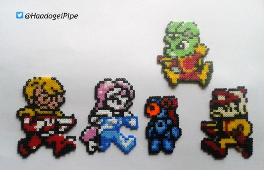 Bucky O'Hare and his crew (beadsprites) by Haadogei