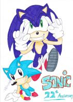 CE: HAPPY 22TH ANNIVERSARY SONIC!! X3 by 7marichan7