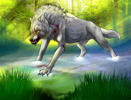 White Wolf Warrior by WhiteWolfCrisis13