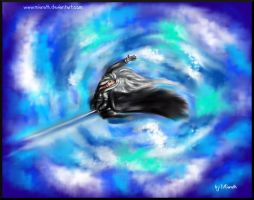 flying sephiroth by Miarath