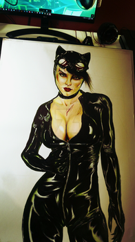 Catwoman WIP 3 by ChrisStoner