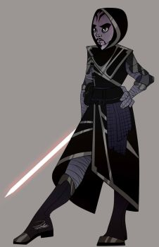 Asajj Ventress redesign by Pipparachi